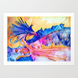dragon benefico Art Print