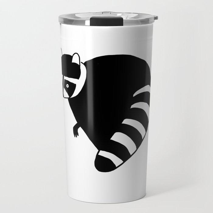 Raccoon Funny Nursery Cartoon Hand Drawing Travel Mug