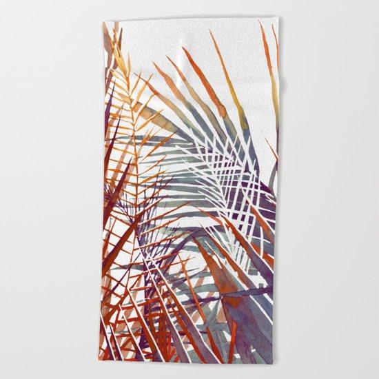 Arecaceae - household jungle #4 Beach Towel