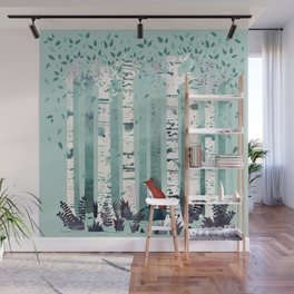 The Birches Wall Mural
