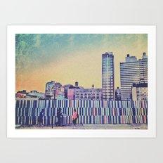 Brooklyn stripes Art Print