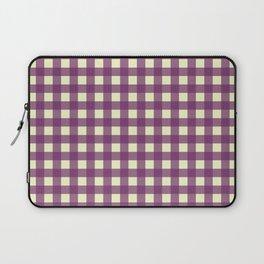 EGGPLANT CHECK Laptop Sleeve