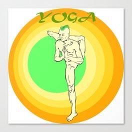 Yoga: asana Canvas Print