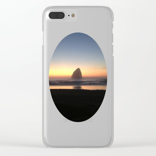 Sunset over the Pacific Clear iPhone Case
