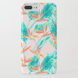 Birds of Paradise Blush iPhone Case