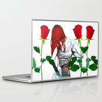 mia wallace Laptop & iPad Skins featuring Mia by Lee Wilde