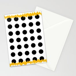 Black - White - Yellow Stationery Cards