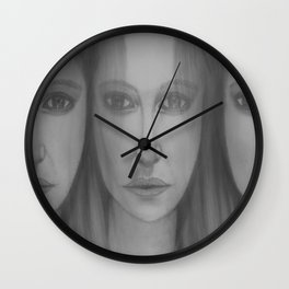 Confusion by Saribelle Rodriguez Wall Clock