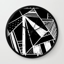 Chalkboard Mayhem Wall Clock