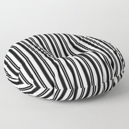 Ticking Black and White Floor Pillow