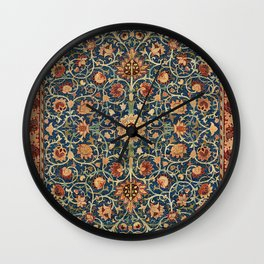 William Morris Floral Carpet Print Wall Clock