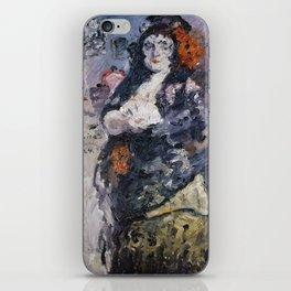 Carmencita, Portrait of Charlotte Berend-Corinth in Spanish Dress iPhone Skin