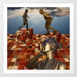 Monuments of modern guys Art Print