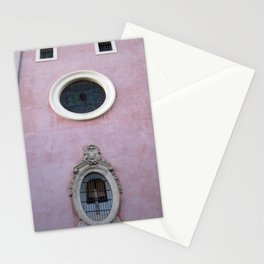 Pink Spanish Facade Stationery Cards