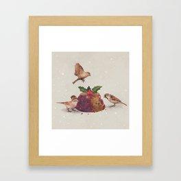 Christmas Pudding Raid  Framed Art Print