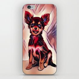 A Long Haired Chihuahua iPhone Skin