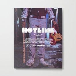 Hotline Miami: The Movie Metal Print