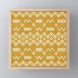 Farrah in Gold Framed Mini Art Print