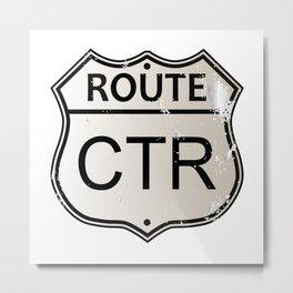 CTR Highway Sign Metal Print