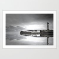 Whitby Pier Art Print