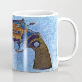 Colt Python 357 Magnum on Blue Back Ground Coffee Mug