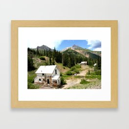 Remnants of the Gold Rush at the Idarado Mine Framed Art Print