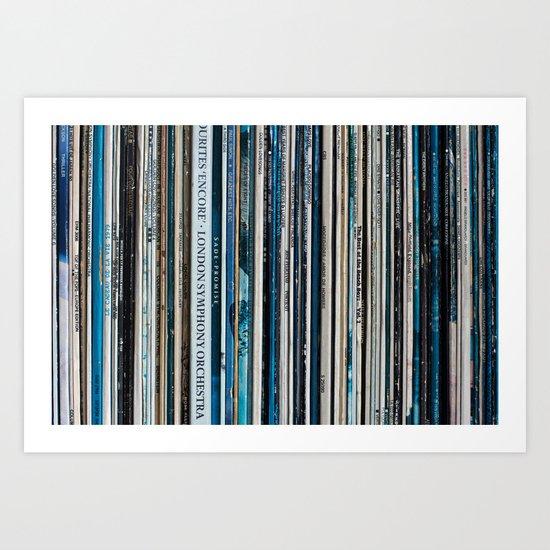 Old Vinyl Art Print