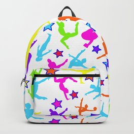 Gymnastics Rainbow Color Pattern Colorful Silhouettes Backpack