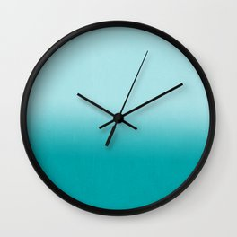 Ombre fade pastel blue trendy color way throwback retro palette 80s 90s style Wall Clock