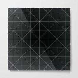 Geometric black and white Metal Print