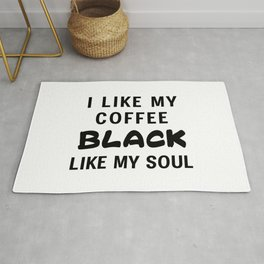 Coffee Black Rug