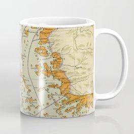 Vintage Map of Ancient Greece (1904) Coffee Mug