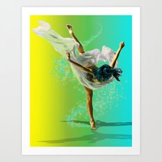 There Was A Ballerina Art Print