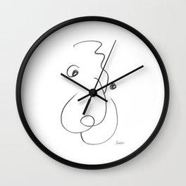 Demeter Moji d8 3-3 w Wall Clock