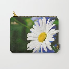 White Daisy Flower Loves Me Loves Me Not Carry-All Pouch