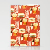 junk food Stationery Cards featuring Junk Food by popsicledonut