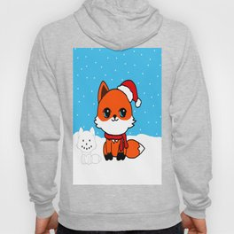 A Fox in the Snow Hoody