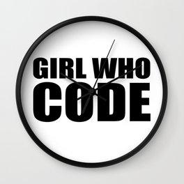 Girl who CODE Wall Clock