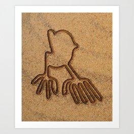 NAZCA LINES HANDS Nazca Lines Art Gift Art Print
