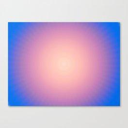 Round Sunset Canvas Print