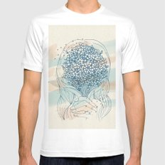 Forget me not White MEDIUM Mens Fitted Tee