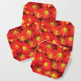 Red and Yellow Flowers Coaster