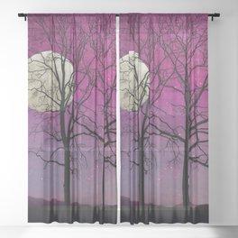Harvest Moon Solitude II Sheer Curtain