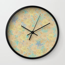 Antique Floral Good Old Days (plain) Wall Clock