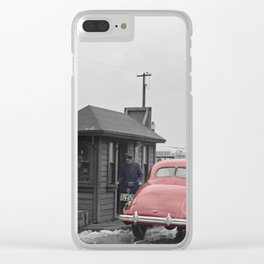 Vintage Toll Booth Clear iPhone Case