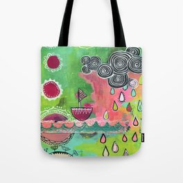 Happiness Boat Tote Bag