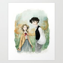 Jo and Laurie Art Print