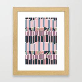 Straight Geometry City 1 Framed Art Print