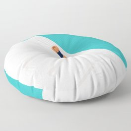 Life Is Cool By The Pool Floor Pillow