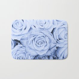 Some people grumble - Blue Rose, Floral Roses Flower Flowers on  #Society6 Bath Mat